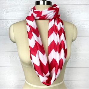 Padparadscha White Chevron Infinity Circle Scarf